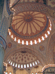 Sultanahmet Camii - Blue Mosque - Dome (Carabul) Tags: blue art architecture canon turkey islam istanbul mosque powershot explore trkei cupola dome mezquita ottoman bluemosque sultanahmet  estambul mosque pabo kuppel sultanahmetcami cpula  gewlbe moschee       mosk