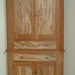 Cherry Corner Cabinet with Bookmatched Spalted Maple Panels