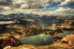 glacier lake (richietown) Tags: lake mountains topf25 topv111 clouds canon drive topv555 topv333 topf75 bravo montana topv1111 stock topv999 lakes scenic glacier yellowstonenationalpark getty topv777 wyoming topv50 hdr 30d sigma1020mm beartoothhighway 3xp photomatix supershot specland richietown anawesomeshot excellentphotographerawards