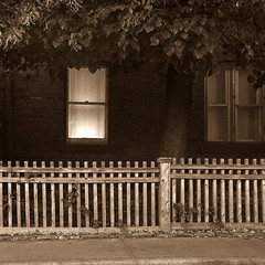 the mellow light (Joel Bedford) Tags: bw toronto home sepia facade photoshop fence bedford design photo quiet joel rustic neighborhood processing americana whitepicketfence quaint jab lightroom treatment jalex oldetyme superbmasterpiece hourofthediamondlight jalexphoto jbedford joelbedford jbedfordphoto
