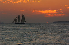 sailboat (Adam FLiK) Tags: ocean sunset sun west water set sailboat boat key florida mywinners flikproductionscom flikproductions adamflikkema