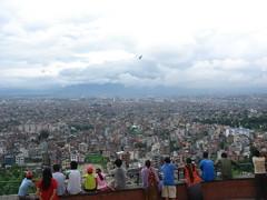 kathmandu valley (jk10976) Tags: nepal sky clouds asia kathmandu monkeytemple kathmanduvalley swayambhunath jk10976 jkjk976