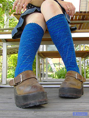 november rain (sew-mad) Tags: blue socks knitting knit yarn kneesocks matahari wollmeise gewitterhimmel sewmad kneeheights