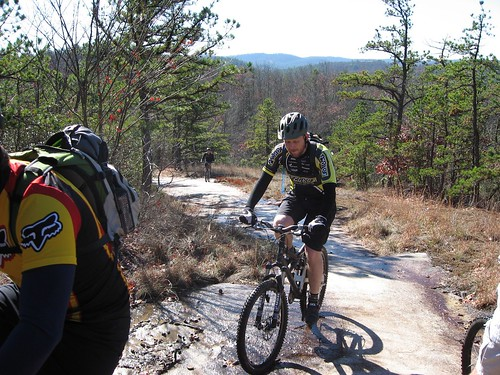 Me riding on the slick rock on Big Rock Trail
