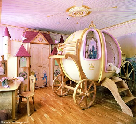 Cinderella-themed Bedroom