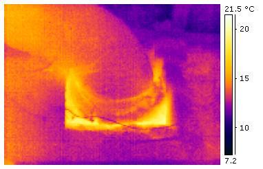 Warm Air Leak Around Heating Duct