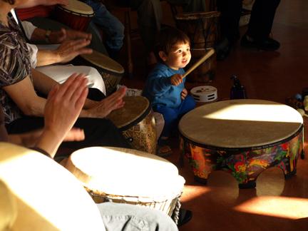 Child and Drum
