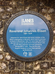 Photo of Johannes Elison blue plaque