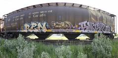 Ren, Junction Joe, Sensr (A & P Bench) Tags: art train painting graffiti steel stock railway graff railfan freight rolling freighttrain benching freightgraffiti freighttraingraffiti
