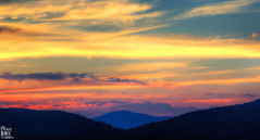 Natural symmetry (Smackthatbird) Tags: sunset sky mountains beautiful canon virginia scenery pretty sundown symmetry roanoke rockymount blueridge franklincounty 550d baldknob t2i