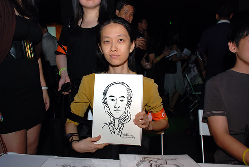 caricature live sketching for SDN First Anniversary Bash - 5