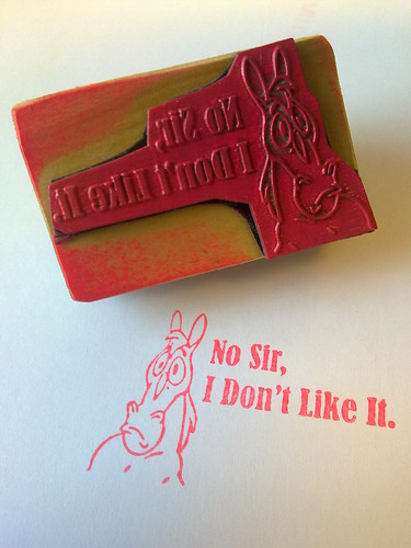 Mr Horse Rubber Stamp