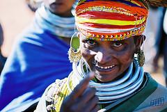 Wild woman  Orissa-India (otabi) Tags: india orissa bonda woman