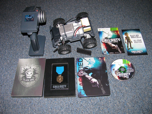 Limited Edition Black Ops Collector's medal and Xbox Live Avatar outfit.