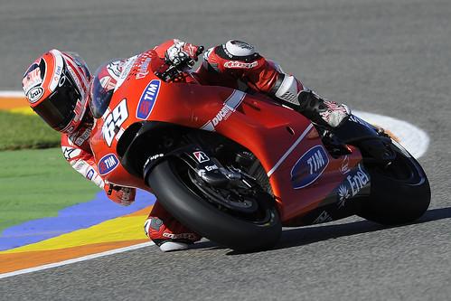 Nicky Hayden: test a Valencia con la Ducati per il 2011