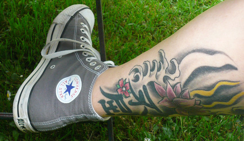 Star Tattoo On Leg