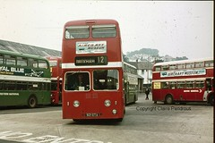 Devon General 921 GTA at Paigton Bus Station 25th August 1973 (Lady Wulfrun) Tags: general devon roe leyland atlantean 921gta