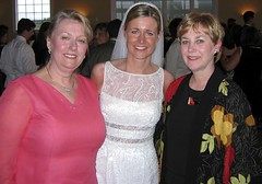 Two Sisters and the Bride (AntyDiluvian) Tags: chris wedding mike sarah groom bride newjersey mother marriage husband aunt lbi longbeachisland linda wife may2004 jerseyshore flanked rieber manahawkinbay bonnetisland bonnetislandestate