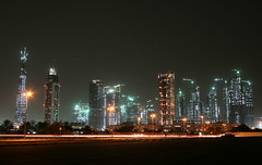 Burj Dubai Skyline (seven years) Tags: tower skyline night al dubai skyscrapers shot uae complex burj nuaimi