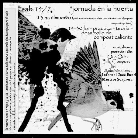 Jornada en la Huerta - Sábado 14 de Julio