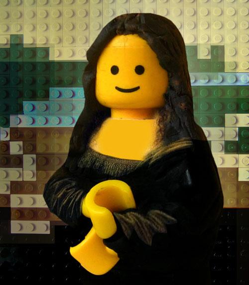 La Gioconda hecha de LEGO