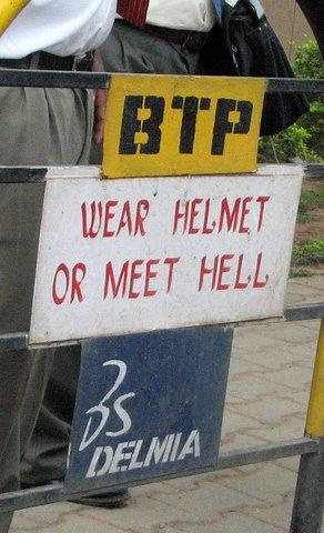 BTP helmet/meet hell