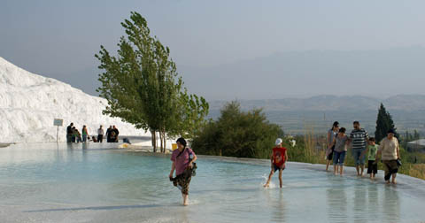 wading the waters at pamukkale
