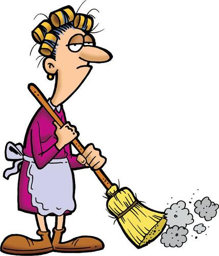 Sweeping Lady by bob canada.