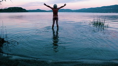 embracing the new day (andrichrose) Tags: lagomaggorie italy dawn skinnydipping naked thislife selfportrait