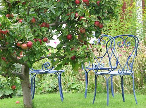 Chairs and apples by Poppins' Garden.