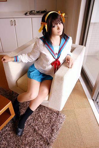 Suzumiya Haruhi no Yūutsu Haruhi Suzumiya Fotos Cosplay