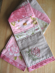 Toddler's Patchwork Scarf (WendysKnitch) Tags: girl scarf children clothing embroidery quilted patchwork sewmamasew