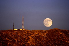 Honey Moon in El Paso (LaMadrilea) Tags: moon mountains texas luna fullmoon lunallena franklinmountain elpasotexas ~wevegotthepower~ top20texas