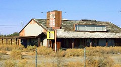 """The Little Red Barn"" (stars4esther) Tags: california abandoned ruins desert decay socal mojave restaraunt southerncalifornia airforcebase californiacity kerncounty muroc calcity northedwards thelittleredbarn bubinorthbar georgeandersonsmercantile stars4esther"