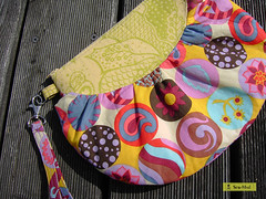Yellow Balloon (sew-mad) Tags: bag handmade sewing balloon handbag wristlet sewmadbadge sewmad bohemianbeauties