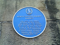 Photo of North-Eastern Railway Viaduct blue plaque