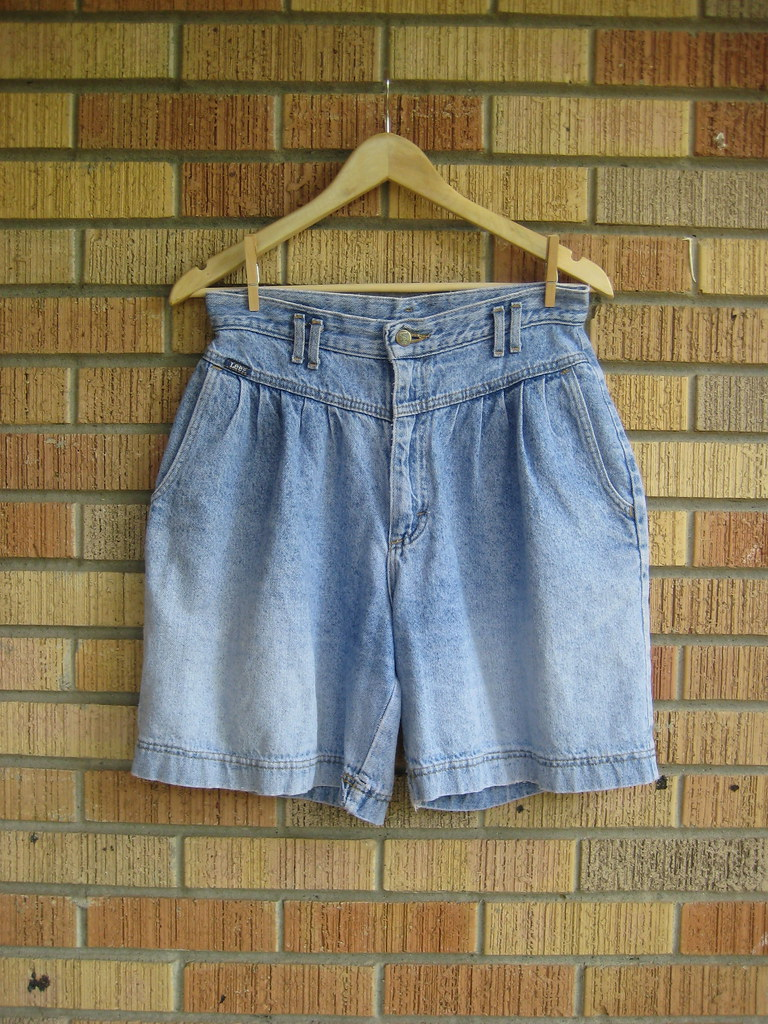 vintage high waist lee denim shorts