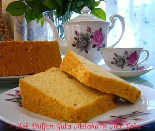 Kek Chiffon Gula Melaka