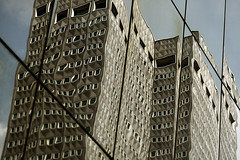for sale (simple pleasure) Tags: reflection downtown pittsburgh distorted headquarters former 1953 alcoa regionalenterprisetower aluminumfacade
