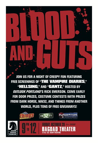 """Free Portland Halloween Event & Costume Contest At Bagdad Theater With Dark Horse Comics: """"Blood & Guts"""""""