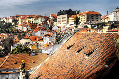 View of the Castle quarter. Prague. Vista del Barrio del Castillo. Praga