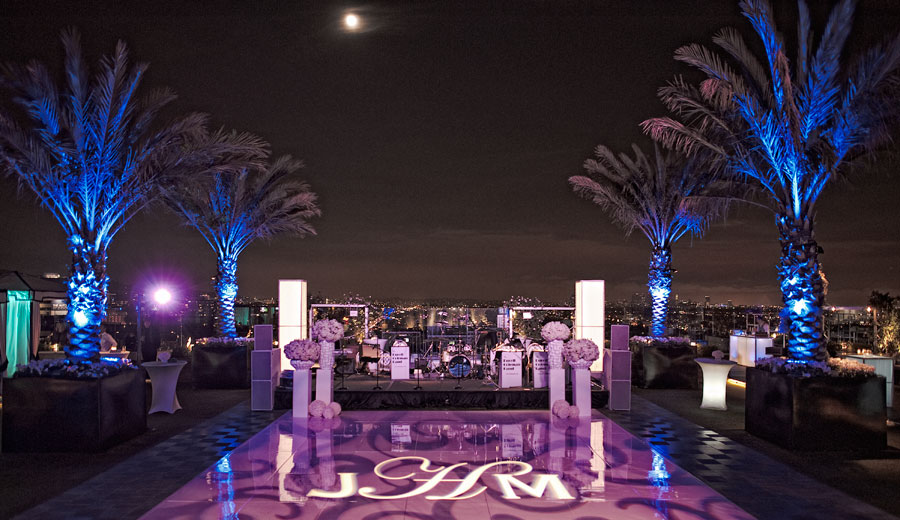 Roof top wedding at the London West Hollywood