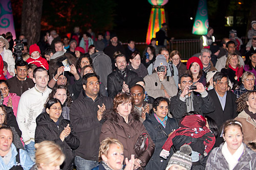 Crowds enjoying the festivities at Botanic Gardens