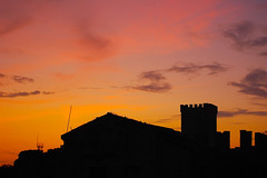 Tramonto silhouette - sunset silhouette (kikkedikikka) Tags: sunset tramonto sicily sicilia erice trapani rgspaesaggio rgscastelli rgsnatura rgsscorci