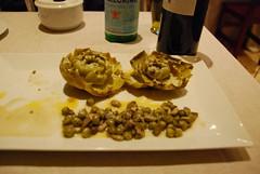 Spain: Fritura de habitas tiernas con alcachofas