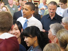 Obama at DMACC in Des Moines IA, Courtesy of the Obama Campaign