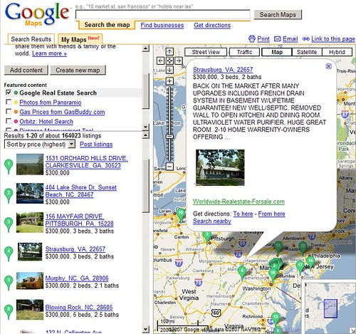 Google MyMaps: Real Estate