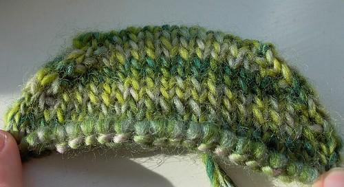 first socks - toe detail