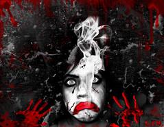 oops (r__a__r__o) Tags: wallpaper humo sangre pinceles suturas