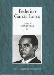 Federico García Lorca, Obras completas
